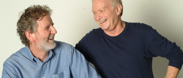 Michael Hauge and Syd Laughing